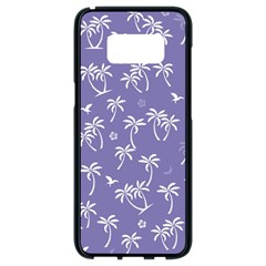 Tropical Pattern Samsung Galaxy S8 Black Seamless Case