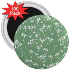 Tropical Pattern 3  Magnets (100 Pack) by Valentinaart