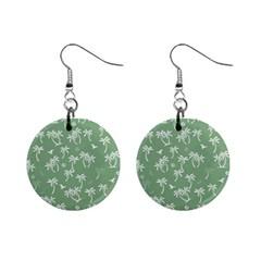 Tropical Pattern Mini Button Earrings