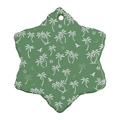Tropical Pattern Snowflake Ornament (two Sides)