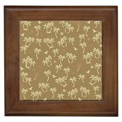 Tropical Pattern Framed Tiles