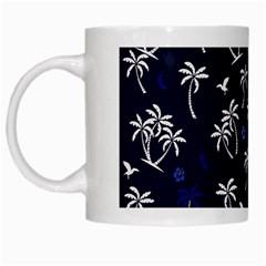 Tropical Pattern White Mugs