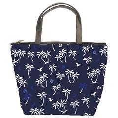 Tropical Pattern Bucket Bags