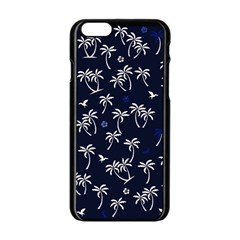 Tropical Pattern Apple Iphone 6/6s Black Enamel Case by Valentinaart