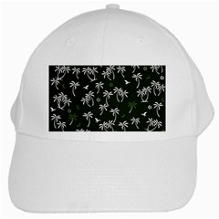 Tropical Pattern White Cap