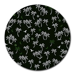 Tropical Pattern Round Mousepads