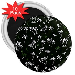 Tropical Pattern 3  Magnets (10 Pack)