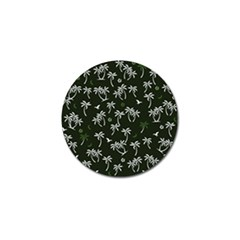 Tropical Pattern Golf Ball Marker