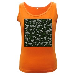 Tropical Pattern Women s Dark Tank Top
