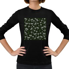 Tropical Pattern Women s Long Sleeve Dark T Shirts