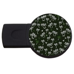 Tropical Pattern Usb Flash Drive Round (4 Gb)