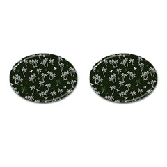 Tropical Pattern Cufflinks (oval)