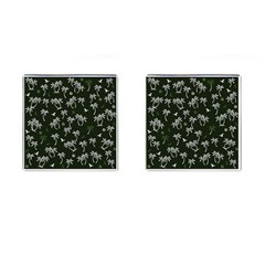Tropical Pattern Cufflinks (square)