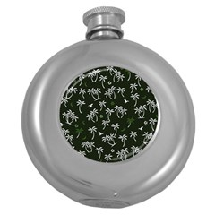 Tropical Pattern Round Hip Flask (5 Oz)