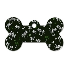 Tropical Pattern Dog Tag Bone (one Side)