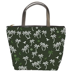 Tropical Pattern Bucket Bags