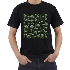 Tropical Pattern Men s T Shirt (black)