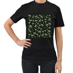 Tropical Pattern Women s T Shirt (black)