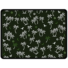 Tropical Pattern Fleece Blanket (large)