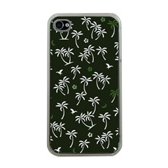 Tropical Pattern Apple Iphone 4 Case (clear)