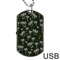 Tropical Pattern Dog Tag Usb Flash (one Side)