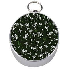 Tropical Pattern Silver Compasses