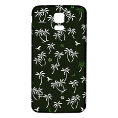 Tropical Pattern Samsung Galaxy S5 Back Case (white)