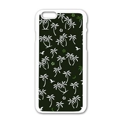 Tropical Pattern Apple Iphone 6/6s White Enamel Case