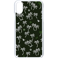Tropical Pattern Apple Iphone X Seamless Case (white)