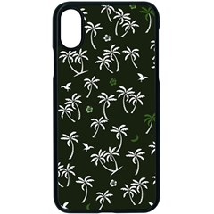 Tropical Pattern Apple Iphone X Seamless Case (black)