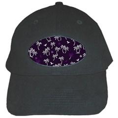 Tropical Pattern Black Cap