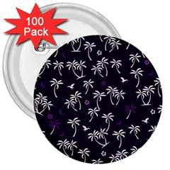 Tropical Pattern 3  Buttons (100 Pack)