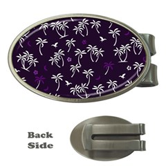 Tropical Pattern Money Clips (oval)