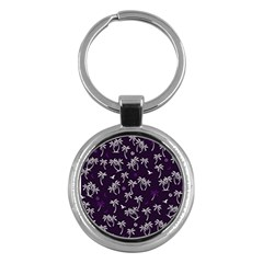 Tropical Pattern Key Chains (round)