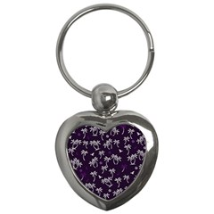 Tropical Pattern Key Chains (heart)