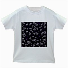 Tropical Pattern Kids White T Shirts