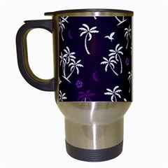 Tropical Pattern Travel Mugs (white)