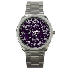 Tropical Pattern Sport Metal Watch