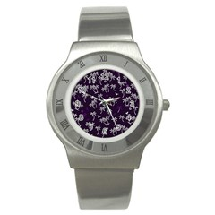 Tropical Pattern Stainless Steel Watch