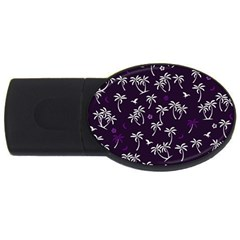 Tropical Pattern Usb Flash Drive Oval (4 Gb)