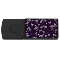Tropical Pattern Rectangular Usb Flash Drive