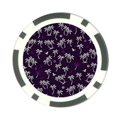 Tropical Pattern Poker Chip Card Guard