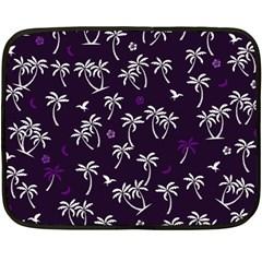 Tropical Pattern Fleece Blanket (mini) by Valentinaart