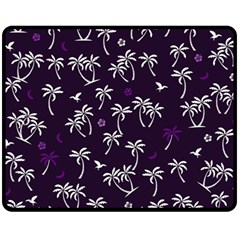 Tropical Pattern Fleece Blanket (medium)