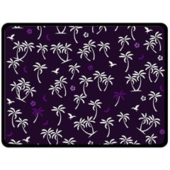 Tropical Pattern Double Sided Fleece Blanket (large)