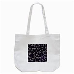 Tropical Pattern Tote Bag (white)
