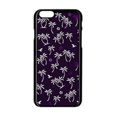 Tropical Pattern Apple Iphone 6/6s Black Enamel Case