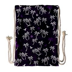 Tropical Pattern Drawstring Bag (large)