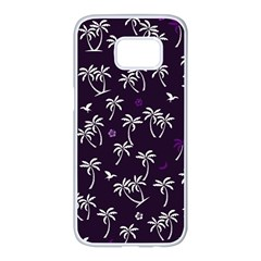 Tropical Pattern Samsung Galaxy S7 Edge White Seamless Case