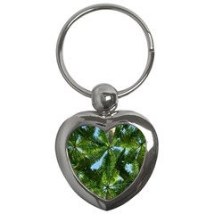 Paradise Under The Palms Key Chains (heart)  by CrypticFragmentsColors